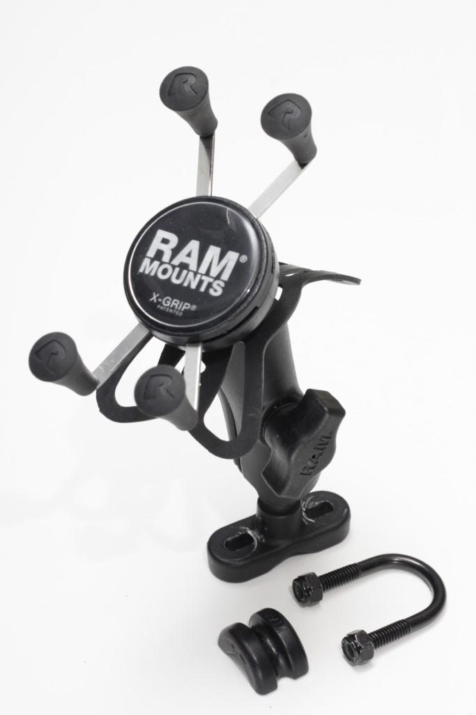RAM MOUNTS XグリップU字クランプセット テザー付の写真