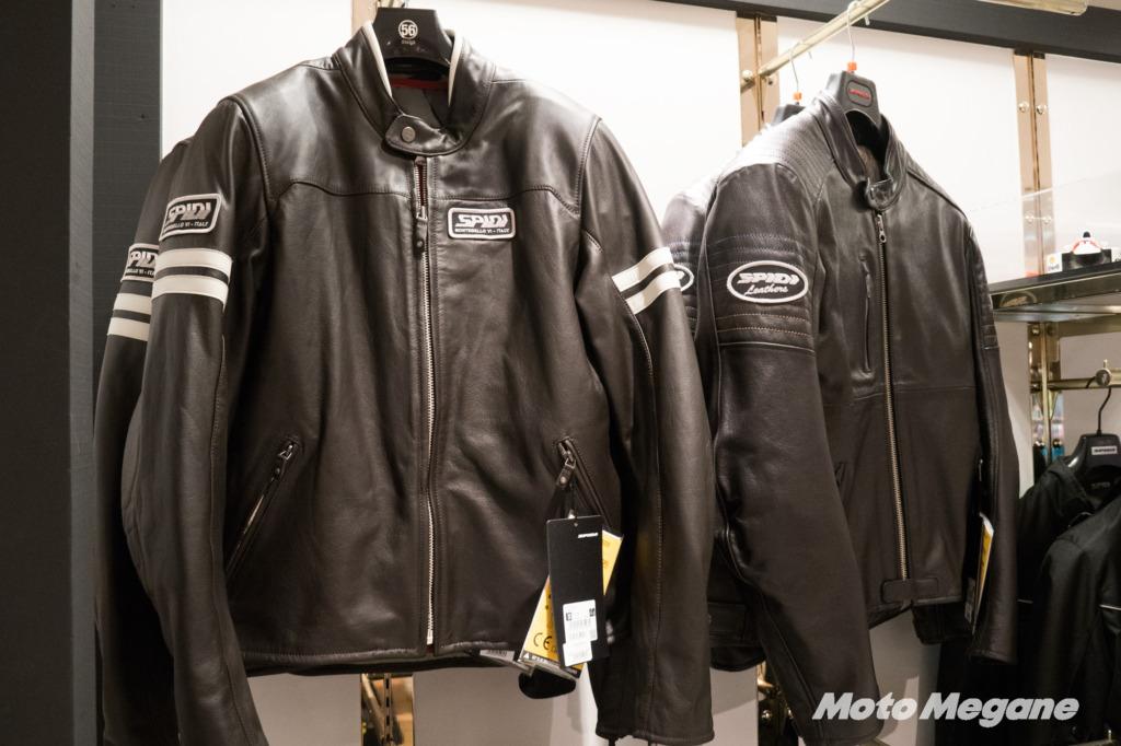 SPIDIのレザージャケット、質感の高さを感じます