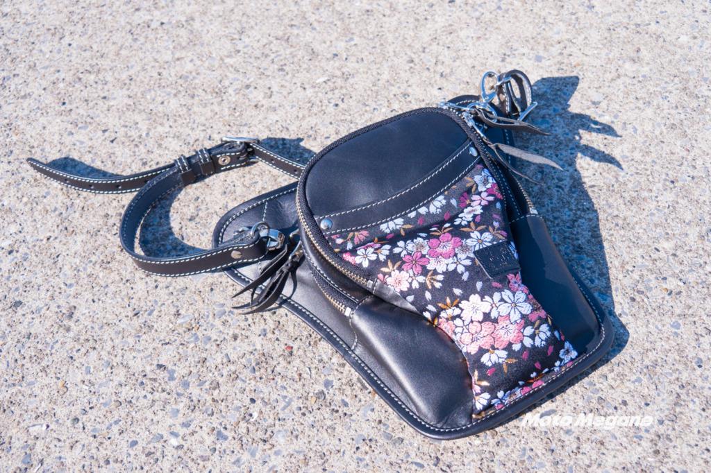 京都の企業らしい金襴織物が特徴的な デグナーの 花山ホルスターバッグ